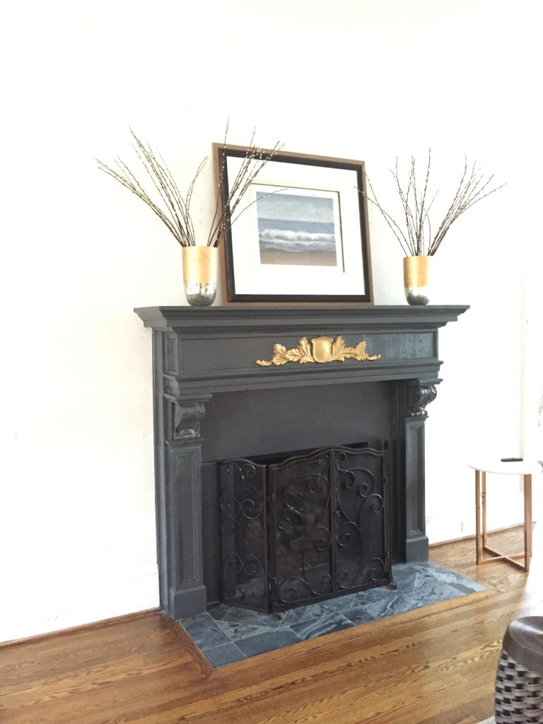 Edgewood Home staging Mantel