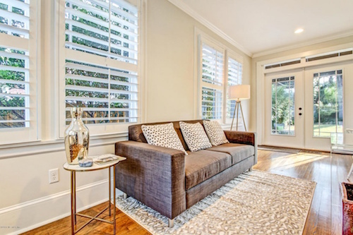 Edgewood TV Room Home Staging